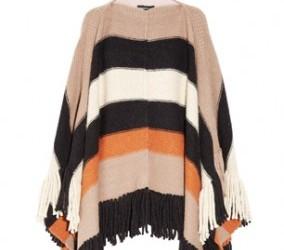 Striped poncho Sonia Rykiel