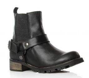 Kurt Geiger Black biker boots