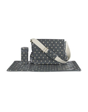 Spot Nappy Bag In Slate