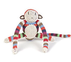 Multicoloured sock monkey