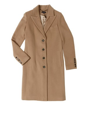 Satin Detail City Coat
