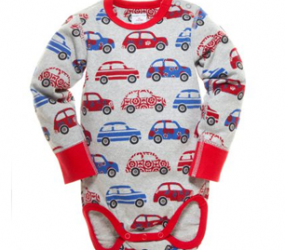 Car Print Babygrow