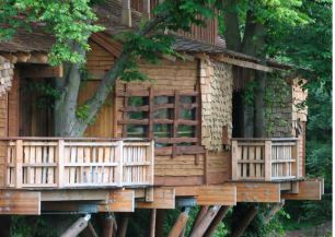 The Treehouse in The Alnwick Garden in Northumberland,