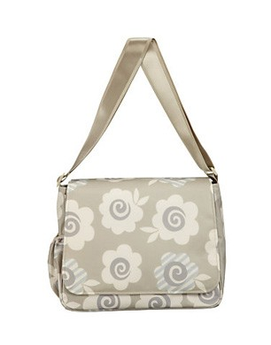 Neutral Floral Print Nappy Bag