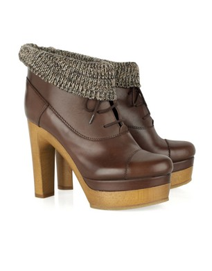Chloé Chunky Lace Up Platforms