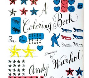 andy warhol colouring in book