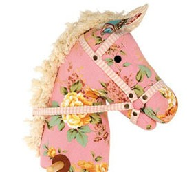 floral pink hobby horse
