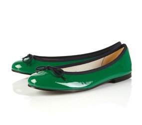 french sole topshop green