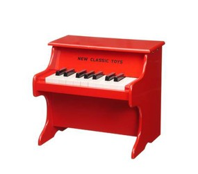 Red classic childrens piano