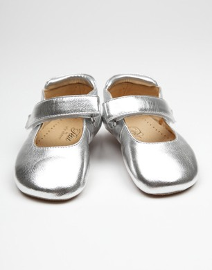 Metallic Silver Slippers