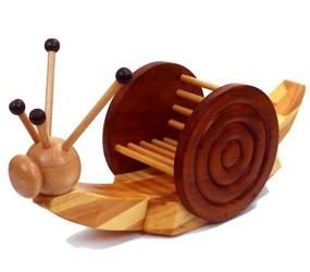 Childrens wooden snail rocker