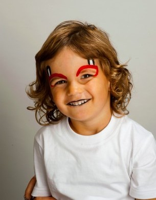 halloween face painting little devil  stylenest