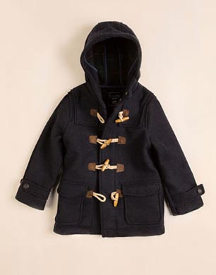Navy Fabric Duffle Coat