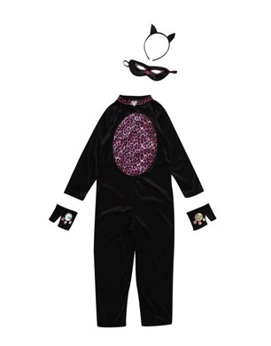Girls Halloween Cat Suit