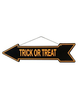 Trick or Treat Arrow Sign