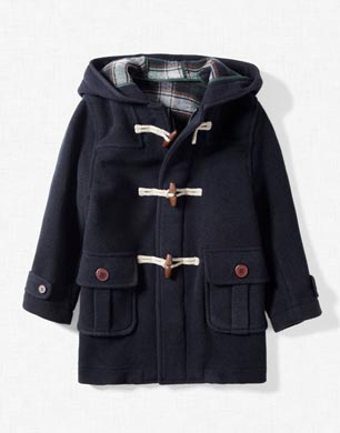 Woollen Duffle Coat with Toggles