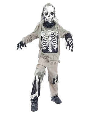 Boy's Skeleton Zombie Costume