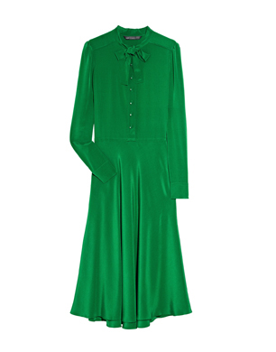 Emerald Green Bow Tie Dress