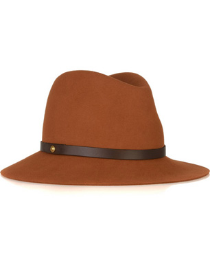 Leather Trimmed Wool-Felt Fedora