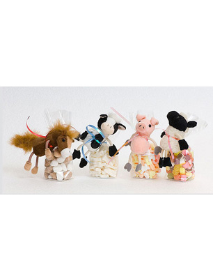 Candyhouse Farmyard Finger Puppets With Sweets