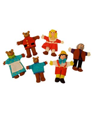 Big Jigs Goldilocks Finger Puppets