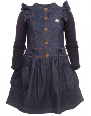 Girls Denim Dresses  StyleNest