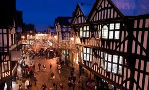 Chester Christmas Market at night