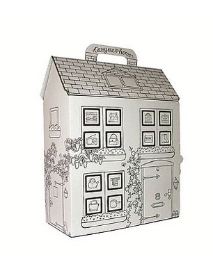 Colour In Cardboard Dolls House