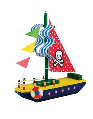 Make & Paint Your Own Pirate Boat