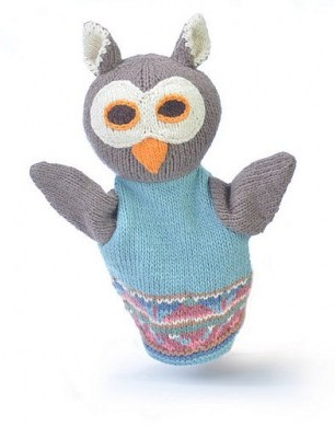 Organic Cotton Owl Puppet