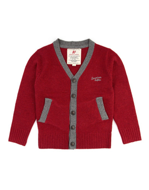 Red Teddy Cardigan