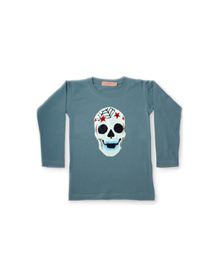 Glitter Skull Long Sleeved Tee