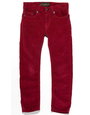 Red Corduroy Skinnies