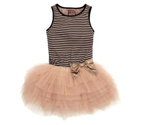 GIRLS PARTY WEAR-Next Striped Tutu Dress