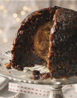 Hidden Orange Christmas Pudding