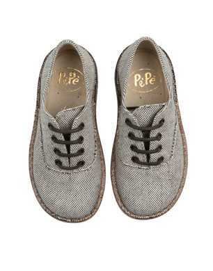 Canvas Lace Up Brogues