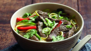 Beef And Red Pepper Noodle Broth
