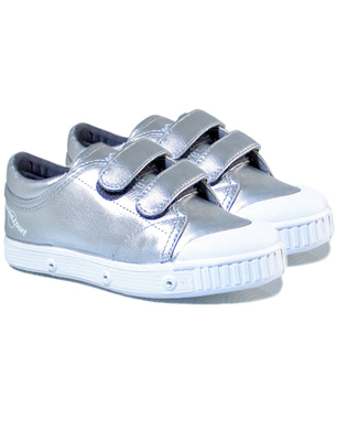 Silver Leather Sneackers