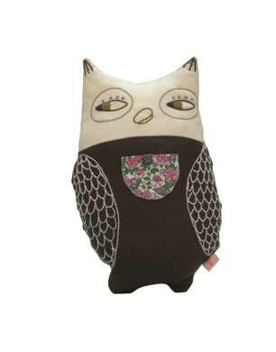 Animal Caravan Owl Cushion