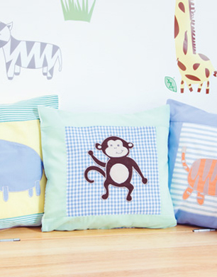 Set of Three Animal Scatter Cushions