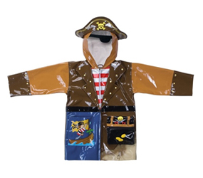 BOYS RAINCOATS Kidorable Pirate Raincoat