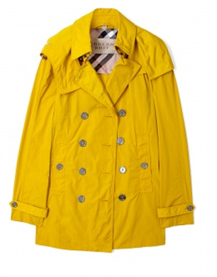 Gorse Yellow Detachable Hood Trench Coat