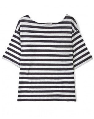Navy And White Consuela Regatta Stripe Top