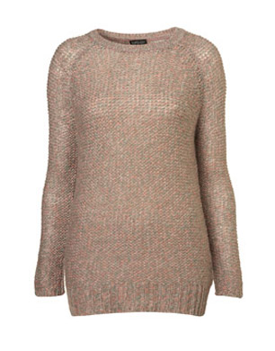 Knitted Pastel Tweedy Jumper