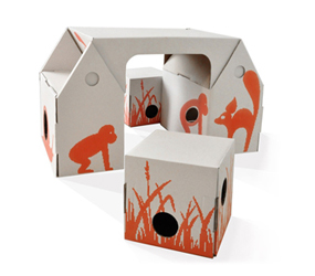 Bo Buro Cardboard Desk Set: Bright Ideas