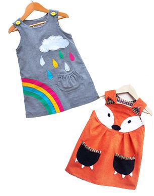 Wild Things Rainbow and Fox Dress