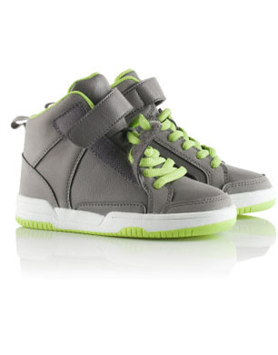 Grey and Neon High-Tops