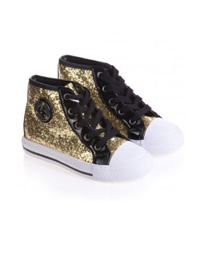 Gold Glitter High-Tops