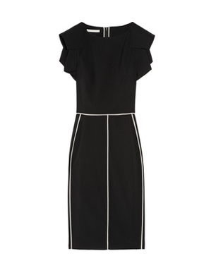 Panelled Wool-Twill Pencil Dress