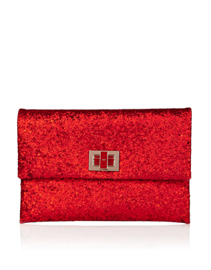 Red Valorie Evening Clutch